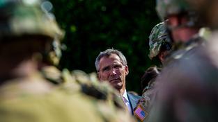 Šéf NATO Rasmussen na nedávné návštěvě v Česku
