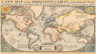 Světová mapa podmořských internetových tras