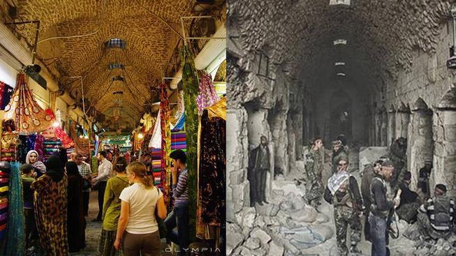 Válka v Sýrii nezničila jen starověké památky, ale i moderní kulturu a tehdejší poměrně bohatá města