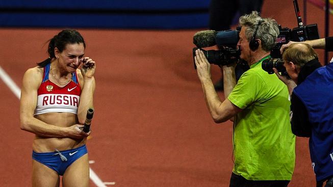Na snímku ruská tyčkařka Isinbajevová