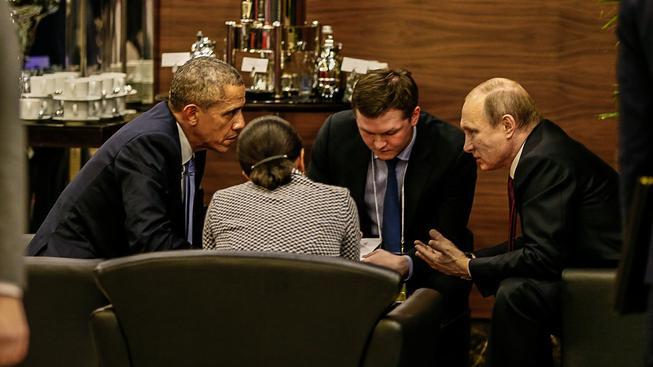 Obama a Putin během neoficiálního jednání v Turecku