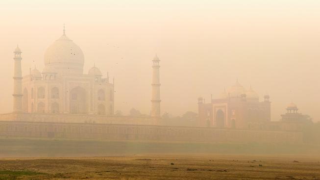 Monumentální památník Taj Mahal v Indii