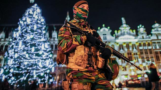 Brusel hlídají vojáci