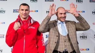 Vladimir Kličko a Tyson Fury čtyři dny před vypuknutím jejich vzájemného souboje