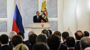 Putin během výročního projevu k Federálnímu shromáždění a lidu