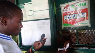 Ukázka transakce v mobilním systému M-Pesa