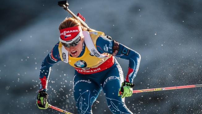 Soukalová byla po poslední střelbě na třetím místě, v běhu ale nestačila na Finku Mäkäräinenovou