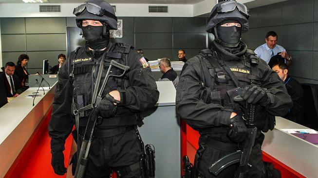 Soud s šéfem lihové mafie Radkem Březinou provázela přísné bezpečnostní opatření