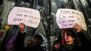 Stovky žen protestovaly v Kolíne nad Rýnem proti sexuálnímu násilí i politkům
