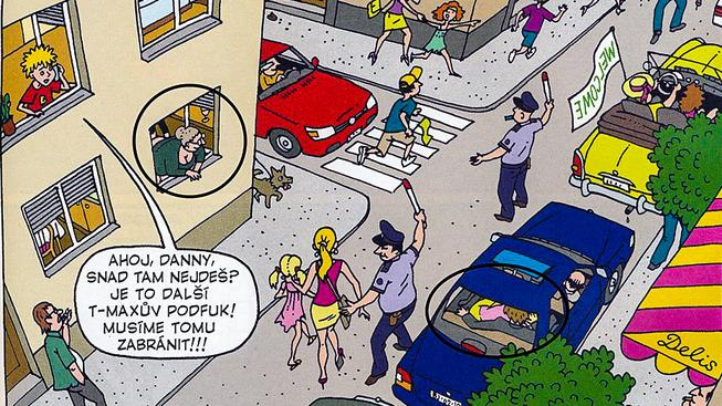Inkriminovaný obrázek z časopisu Čtyřlístek