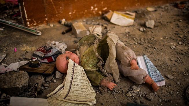Syrský Sinžár po osvobození od Islámského státu