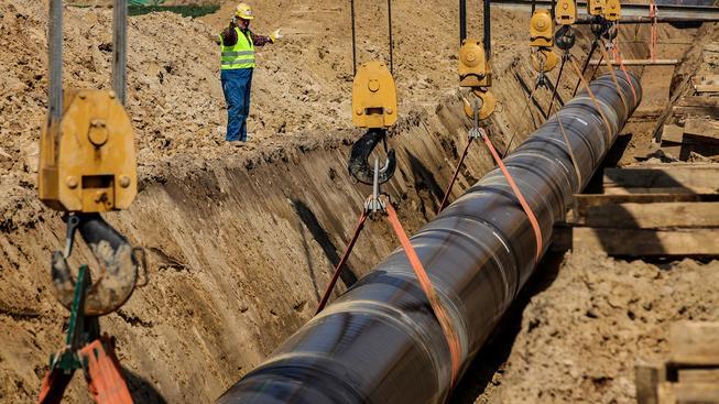 Plynovod Tanap se staví od loňského jara (ilustrační snímek)