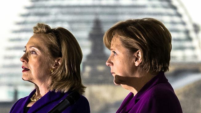 Hillary Clintonová a Angela Merkelová se dobře znají
