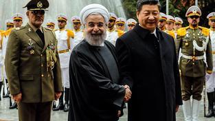 Rúhání vítající čínského prezidenta