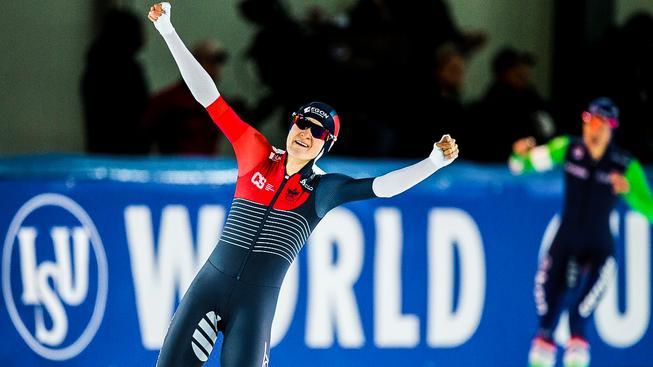 Na trati 1 500 metrů získala Martina Sáblíková bronzovou medaili na olympiádě ve Vancouveru v roce 2010