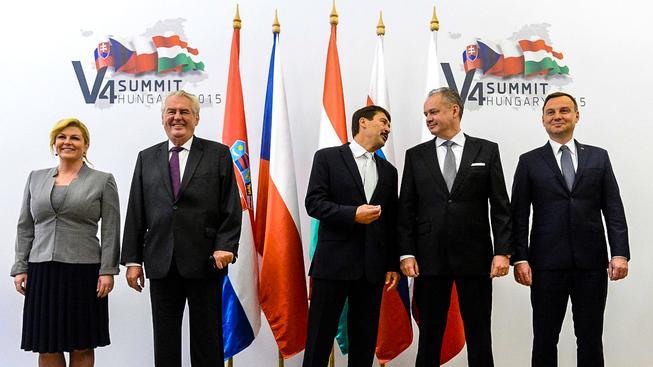 Nejvyšší představitelé zemí skupiny V4