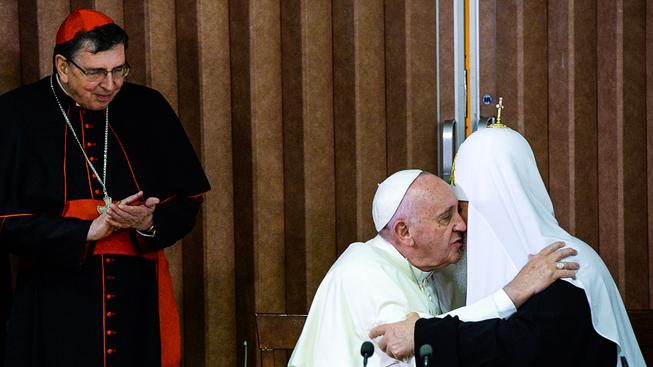 Papež František a patriarcha Kiril
