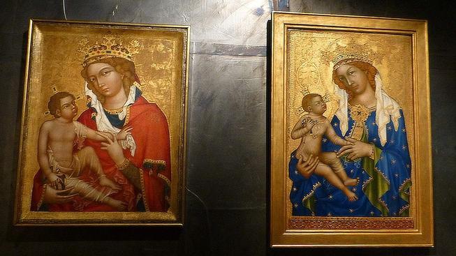 Národní galerie v Praze nakonec obraz Madony z Veveří (vlevo) církvi vydá