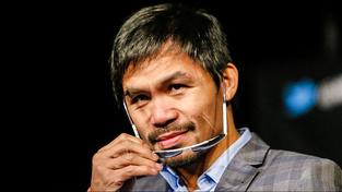 Filipínský boxer Manny Pacquiao na tiskové konferenci