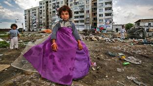 Romské sídliště v bulharském Plovdivu. Ilustrační snímek
