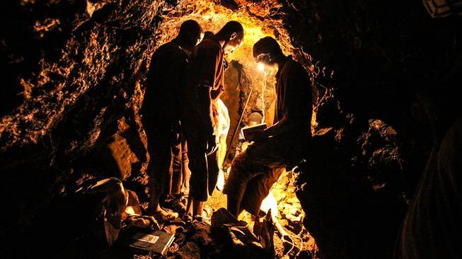 Těžba mědi v Zambii. Ilustrační snímek