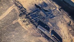 Místo úniku plynu v Aliso Canyon