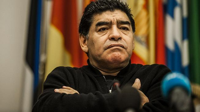Maradona byl hlavním trenérem Argentiny v letech 2008-2010