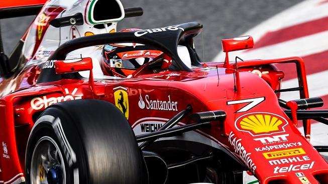 Kimi Räikkönen v Barceloně otestoval nový ochranný prvek