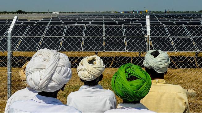 Solární energie v Indii je zažila v posledních letech rapidní nárůst
