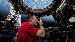 Astronaut Terry Virts na ISS. Ilustrační snímek