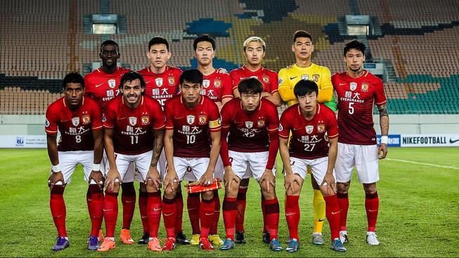 Fotbalisté čínského klubu Kuang-čou Evergrande