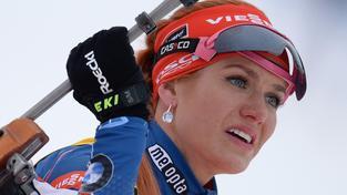 Gabriela Soukalová má v čele průběžného pořadí náskok 34 bodů