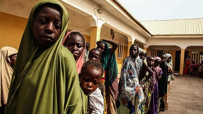 Nigerijské dívky zachráněné z rukou ozbrojenců Boko Haram
