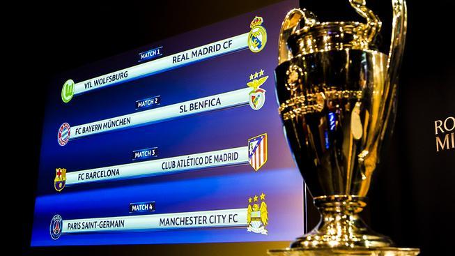 Rozlosování letošního čtvrtfinále Ligy mistrů
