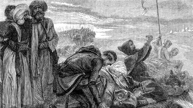 Křižáci poprvé vidí Jeruzalém. Ilustrační snímek