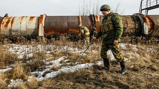 Proruští separatisté hledají nášlapné miny