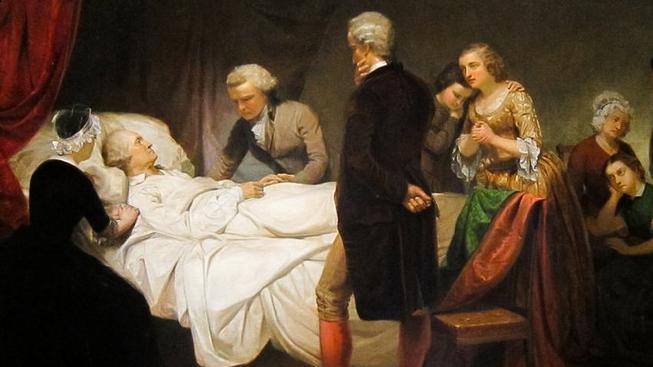 George Washington na smrtelné posteli, Junius Brutus Stearns v roce 1851
