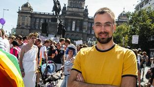 Historik Jan Seidl na Prague Pride