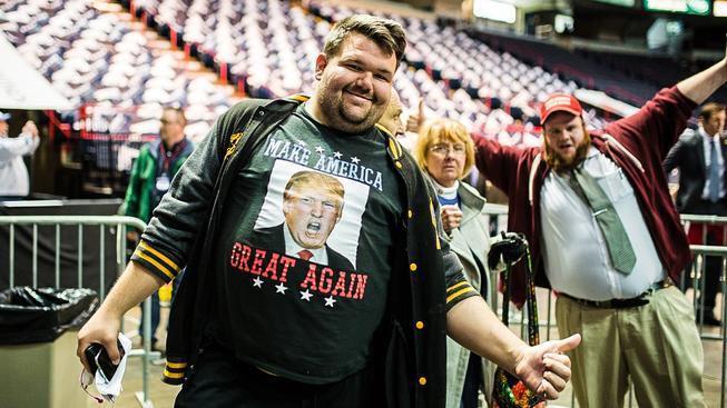 Nadšení voliči Donalda Trumpa