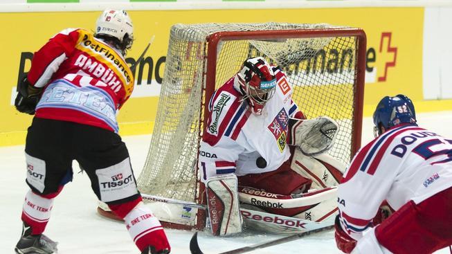 Jakub Kovář během přípravného utkání se Švýcarskem
