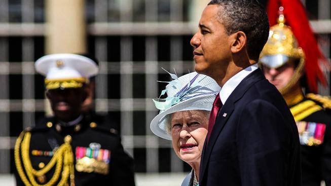 Obama s britskou královnou