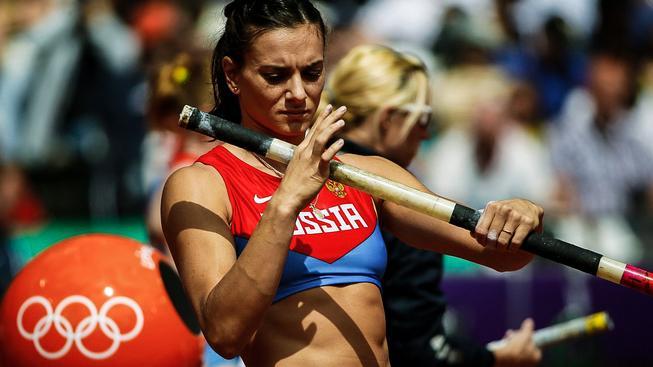 Jelena Isinbajevová získala zlato na hrách v Atenách a Pekiingu, před čtyřmi lety v Londýně si doskočila pro bronz