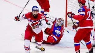 Richard Jarůšek slaví první gól v ruské síti