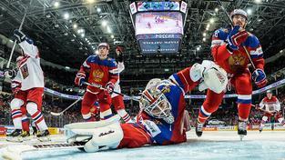 Pokoření Rusové. Takový obrázek si jejich fanoušci před zápasem s Českem nepřipouštěli
