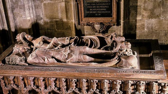 Hrob Kateřiny a Rudolfa v katedrále svatého Štěpána ve Vídni