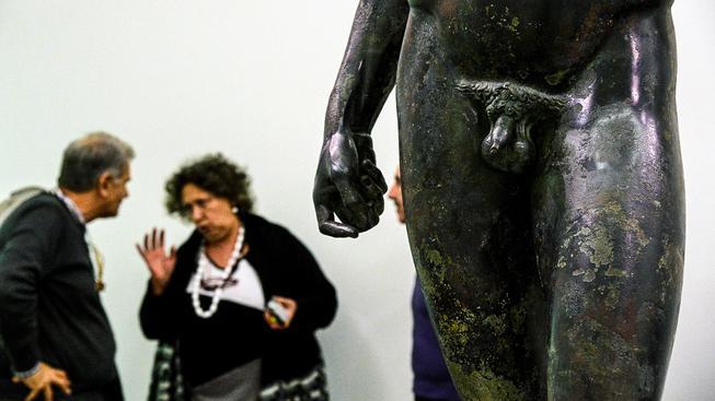 Jeden z bronzových 'bojovníků' z Riace