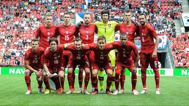 Česká reprezentace před nedělním zápasem s Korejskou republikou