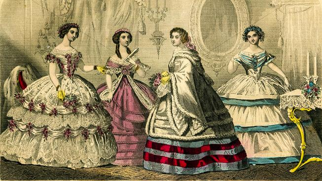 Upnuté korzety a široké sukně s vlečkami ženám s tuberkulózou zrovna nepomáhaly