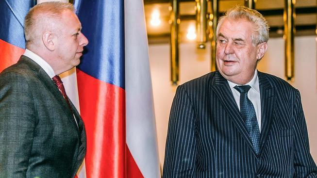 Prezident Miloš Zeman si do Lán svolal aktéry kauzy - ministry Milana Chovance (na snímku) a Andreje Babiše