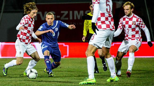 Luka Modrič (vlevo) a Ivan Rakitič (vpravo), 2 hlavní hvězdy Chorvatů